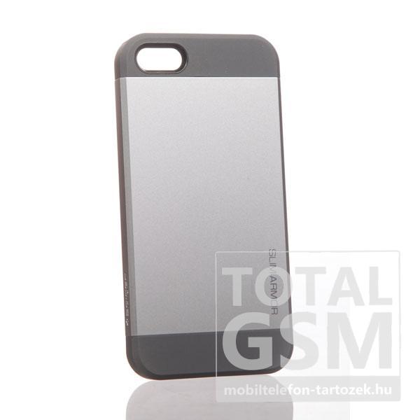 Apple iPhone 5 fekete szürke hátlap tok