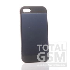 Apple iPhone 5 fekete kék hátlap tok