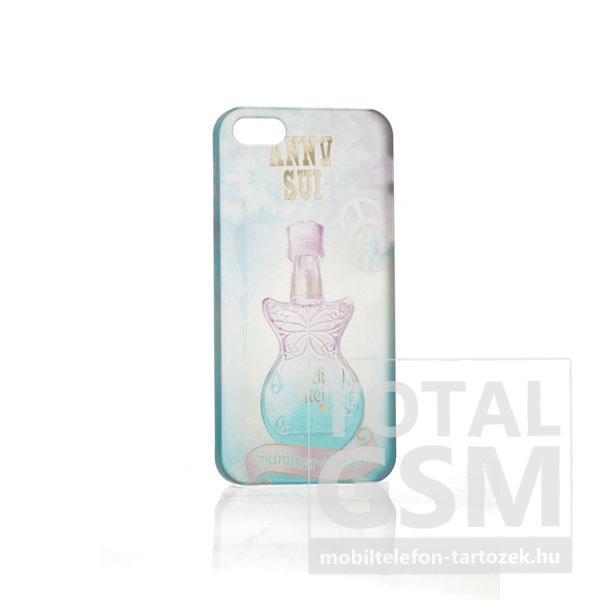 Apple iPhone 5 parfüm mintás illatos fehér kék hátlap tok