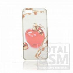Apple iPhone 5 parfüm mintás illatos fehér piros hátlap tok