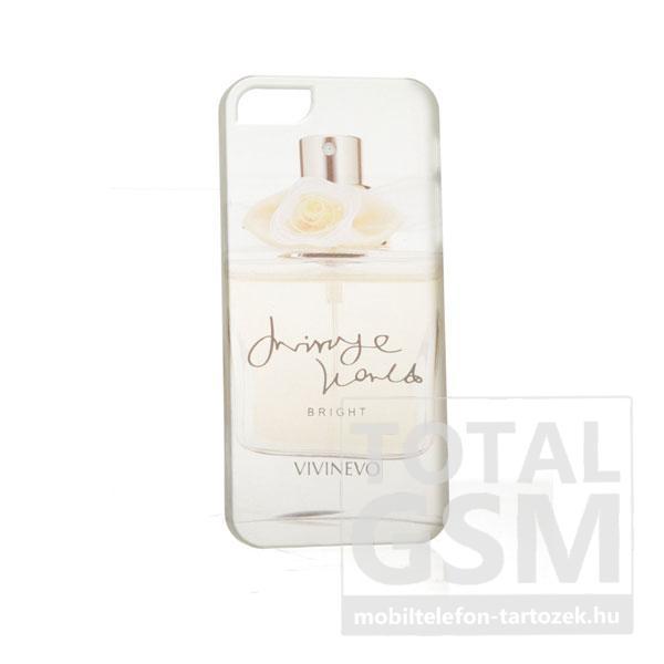Apple iPhone 5 parfüm mintás illatos fehér sárga hátlap tok