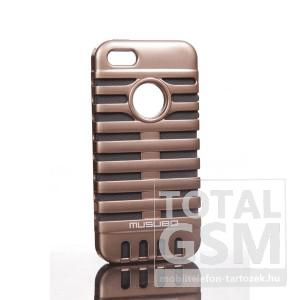 Apple iPhone 5 bronz szürke hátlap tok