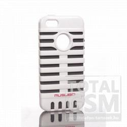Apple iPhone 5 fehér szürke hátlap tok