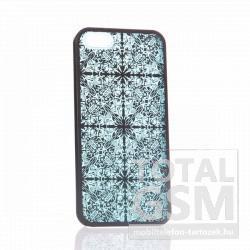 Apple iPhone 5 mintás fekete kék hátlap tok