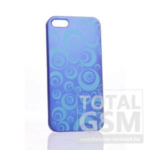 Apple iPhone 5 kör mintás kék hátlap tok