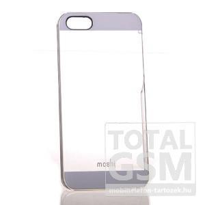 Apple iPhone 5 ezüst átlátszó hátlap tok