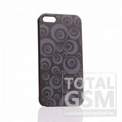 Apple iPhone 5 kör mintás fekete szürke hátlap tok
