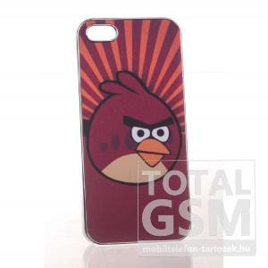 Apple iPhone 5 angry birds mintás bordó hátlap tok