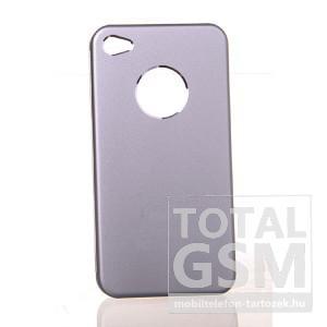 Apple iPhone 4 ezüst hátlap tok