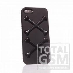 Apple iPhone 5 csont mintás fekete hátlap tok