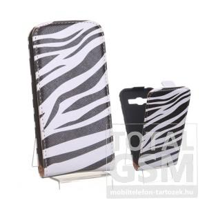 Samsung Galaxy Trend 3 G3502 zebra mintás flip tok