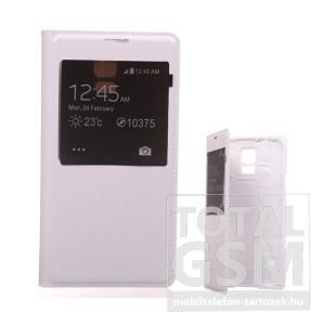 Samsung I9152 Galaxy Mega 5.8 fehér flip tok