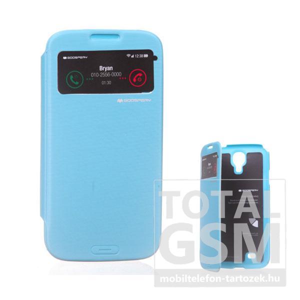 Samsung GT-I9500 Galaxy S4 kék flip tok