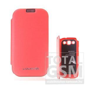 Samsung GT-I9300 Galaxy S3 narancssárga flip tok