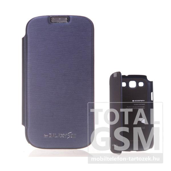 Samsung GT-I9300 Galaxy S3 sötétkék flip tok