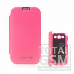 Samsung GT-I9300 Galaxy S3 rózsaszín flip tok