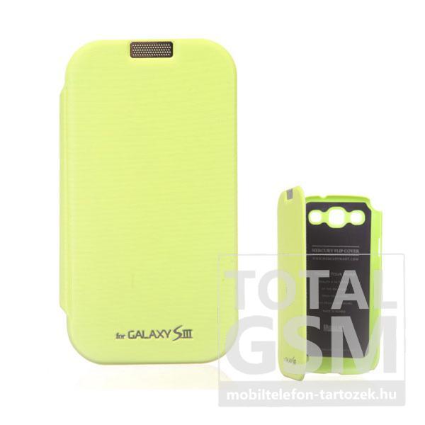 Samsung GT-I9300 Galaxy S3 zöld flip tok