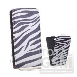 Sony Xperia Z1 Compact D5503 zebra mintás flip tok