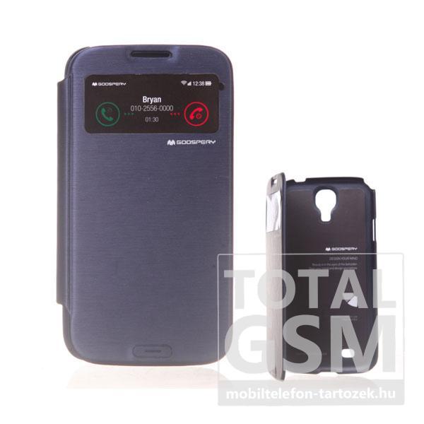 Samsung GT-I9500 Galaxy S4 sötétkék flip tok