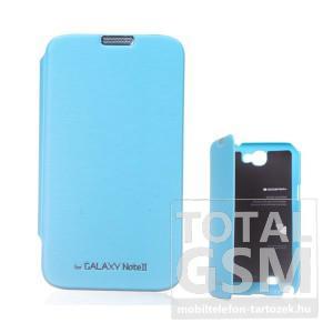 Samsung N7100 Galaxy Note 2 kék flip tok