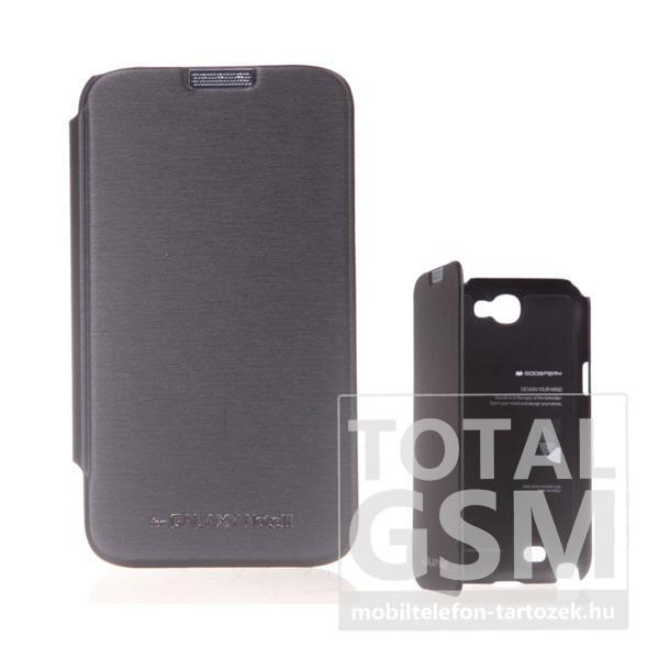 Samsung N7100 Galaxy Note 2 fekete flip tok