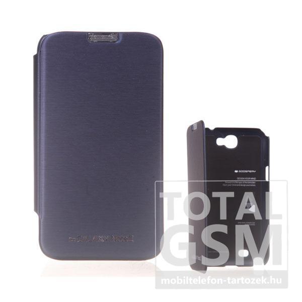Samsung N7100 Galaxy Note 2 sötétkék flip tok