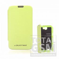 Samsung N7100 Galaxy Note 2 zöld flip tok