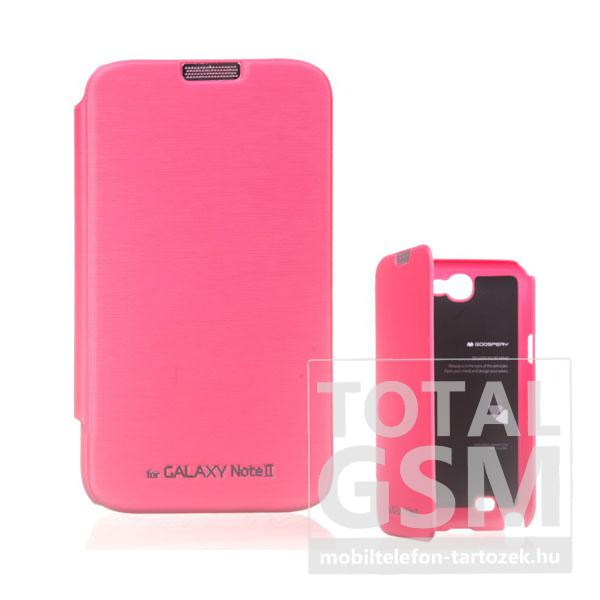 Samsung N7100 Galaxy Note 2 rózsaszín flip tok