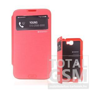 Samsung N7100 Galaxy Note 2 narancssárga flip tok