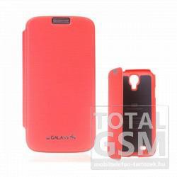 Samsung GT-I9500 Galaxy S4 narancssárga flip tok