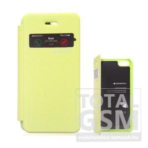 Apple iPhone 5/5S zöld flip tok