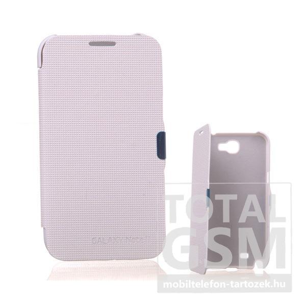 Samsung N7100 Galaxy Note 2 fehér flip tok