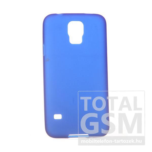 Samsung G900 Galaxy S5 sötétkék szilikon tok