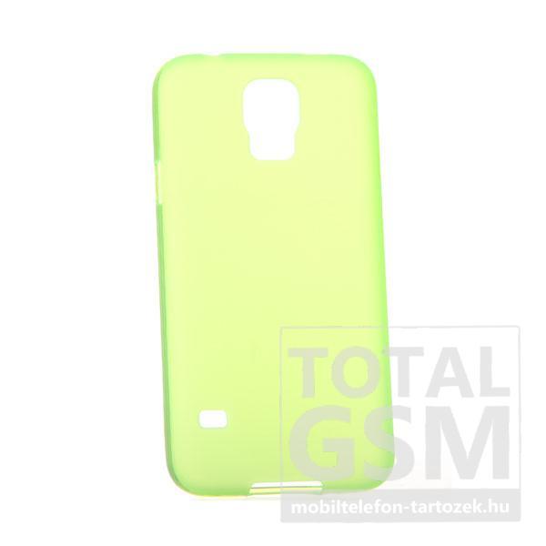 Samsung G900 Galaxy S5 neonzöld szilikon tok