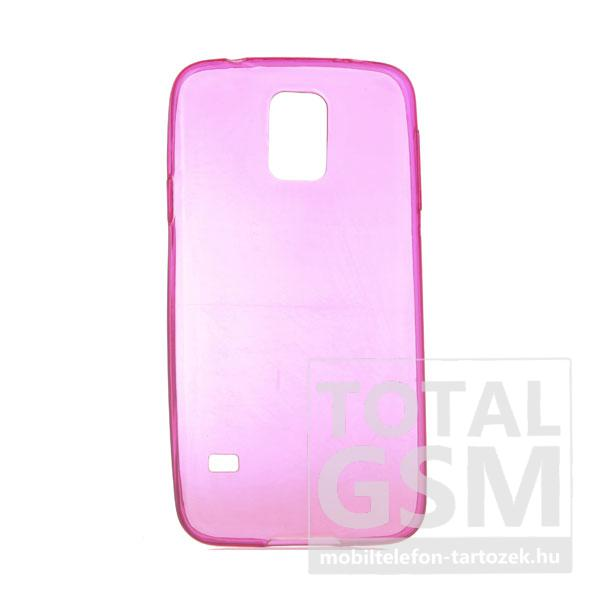 Samsung G900 Galaxy S5 rózsaszín szilikon tok