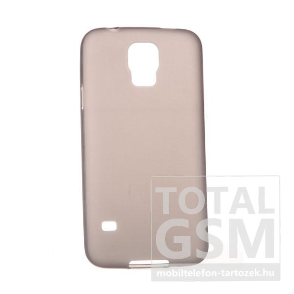 Samsung G900 Galaxy S5 szürke szilikon tok