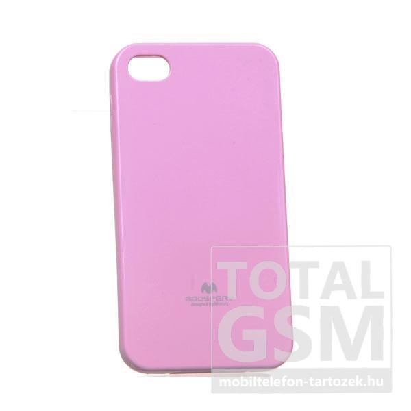 Apple iPhone 4/4S Jelly Case rózsaszín szilikon tok