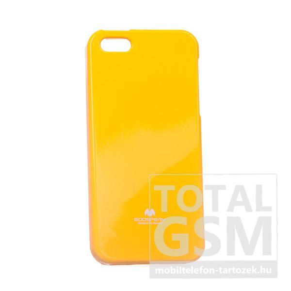 Apple iPhone 5/5S Jelly Case citromsárga szilikon tok