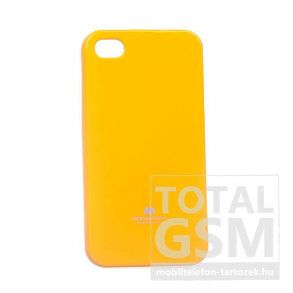 Apple iPhone 4/4S Jelly Case citromsárga szilikon tok