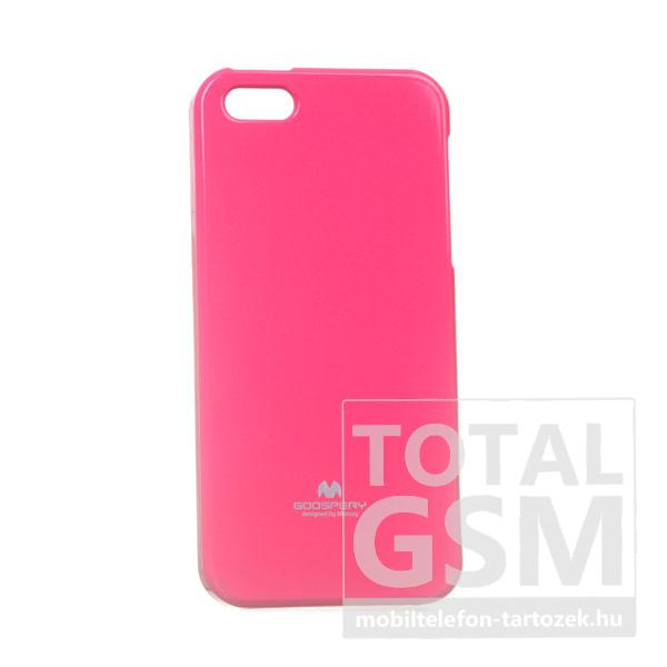 Apple iPhone 5/5S Jelly Case ciklámen szilikon tok