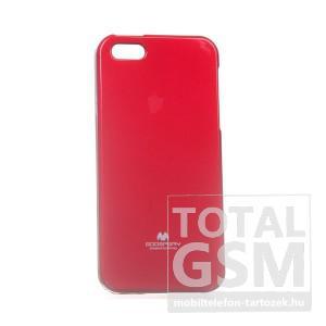 Apple iPhone 5/5S Jelly Case piros szilikon tok