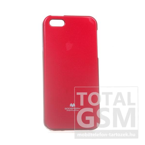 Apple iPhone 5/5S Jelly Case piros szilikon tok