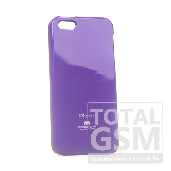 Apple iPhone 5/5S Jelly Case lila szilikon tok