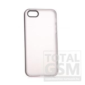 Apple iPhone 5/5S törtfehér-fekete szilikon tok