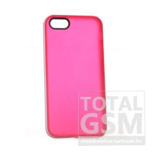 Apple iPhone 5/5S piros-fehér szilikon tok