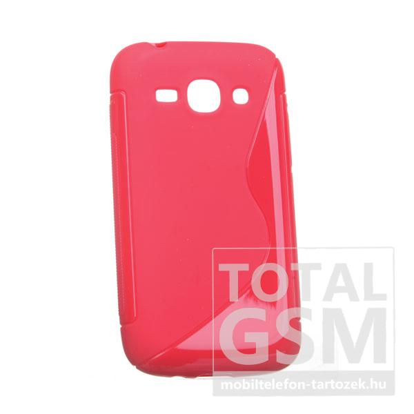 Samsung Galaxy Ace 3 GT-S7272 piros s-line szilikon tok