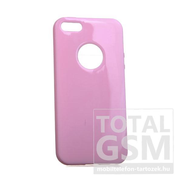 Apple iPhone 5/5S világosrózsaszín szilikon tok