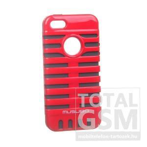 Apple iPhone 5/5S fekete-piros kemény tok