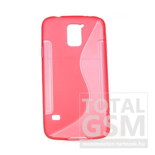 Samsung G900 Galaxy S5 piros szilikon tok