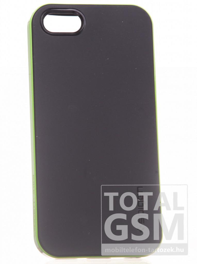 Apple iPhone 5C fekete-zöld kemény tok